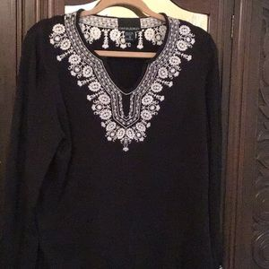 Cynthia Rowley Cotton embroidered top XL